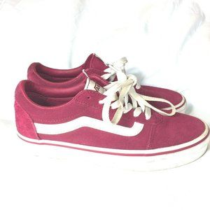 Vans Womens Suede Shoes Size 6 Pink Lace Up
